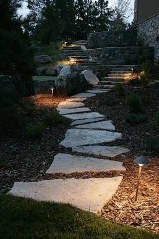This Is The Stone Path I Want Leading Around Back!!! Pathway Lighting