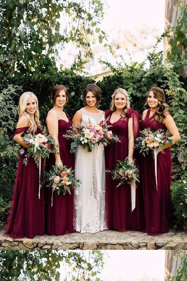 de91488979dc Burgundy Bridesmaid Dress, Bridesmaid Dress Purple #Bridesmaid #Dress  #Purple #Burgundy Bridesmaid Dresses 2018