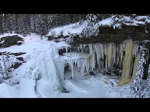 Babcock Falls - Tumbler Ridge, BC - DJI Phantom 2 Vision Plus