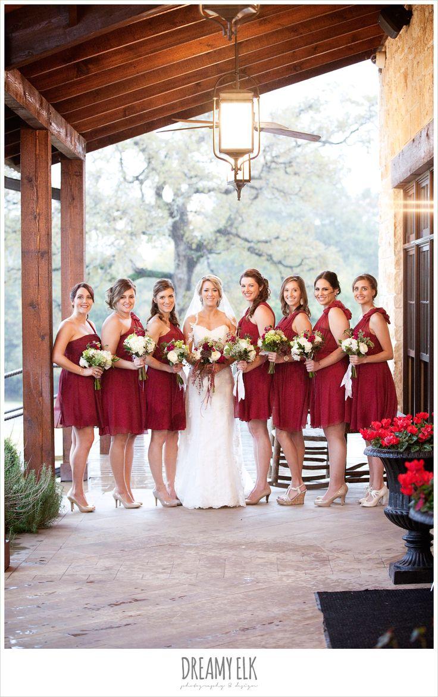 The 25 best cranberry bridesmaid dresses ideas on pinterest bride and bridesmaids short cranberry bridesmaids dresses rainy fall wedding rock lake ranch ombrellifo Choice Image