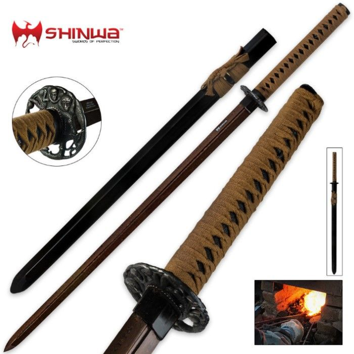 Shinwa Double Edged Regal Damascus Katana Sword Æ­¦å™¨ 'n£ ň€