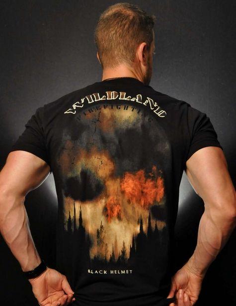 Dirty Dangerous Wildland Firefighter T-Shirt - Black Helmet Firefighter Shirts, Hats, Decals and Accessories