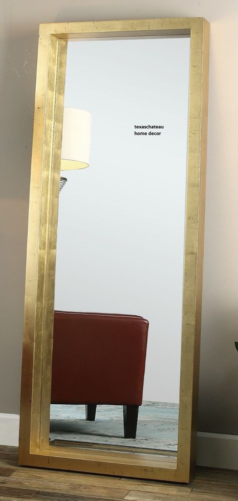 XL LARGE MODERN GOLD LEAF WALL MIRROR DRESSING FLOOR FULL LENGTH LEANER HORCHOW #Doesnotapply #Contemporary