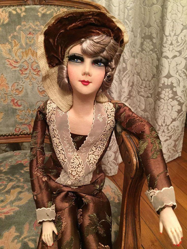 les 662 meilleures images du tableau french boudoir dolls sur pinterest boudoir demi poup es. Black Bedroom Furniture Sets. Home Design Ideas