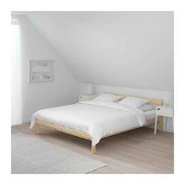 ikea neiden cadre de lit en bois massif un materiau naturel et resistant a l usure