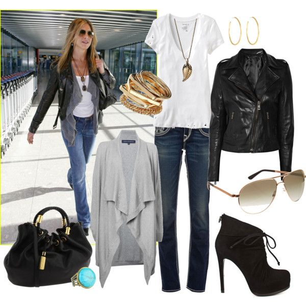 airport style inspired by Jennifer Aniston