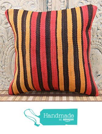 Turkish Handmade kilim pillow cover 16x16 Handwoven Kilim pillow cover Decorative Kilim Pillow cover Kilim Ethnic Pillow cover Tribal Pillow Cover from Kilimwarehouse http://www.amazon.com/dp/B019CMGS70/ref=hnd_sw_r_pi_dp_zj.Bwb03J4DC8 #handmadeatamazon