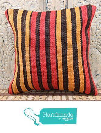 Turkish Handmade kilim pillow cover 16x16 Handwoven Kilim pillow cover Decorative Kilim Pillow cover Kilim Ethnic Pillow cover Tribal Pillow Cover from Kilimwarehouse http://www.amazon.com/dp/B019CMGS70/ref=hnd_sw_r_pi_dp_zj.Bwb03J4DC8 #handmadeatamazon
