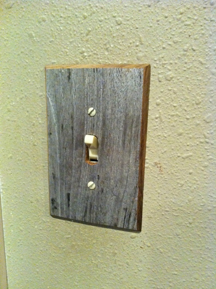 Driftwood Light Switch Cover. $12.00, via Beach2Home on Etsy.