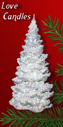 White Tree with silver tinsel effect