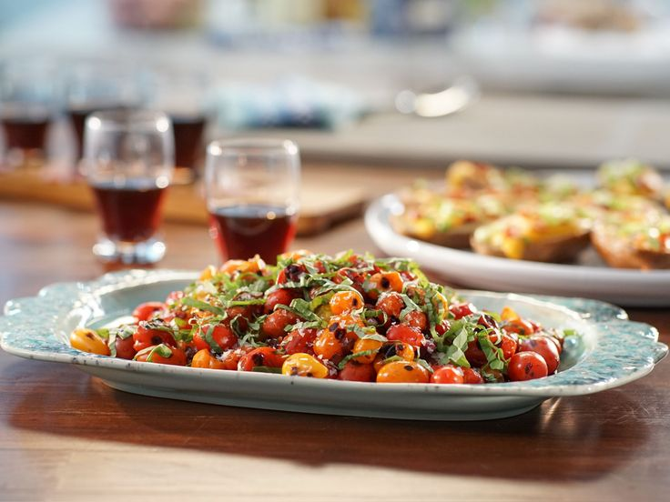 Pan-Roasted Tomatoes with Quick Balsamic Jam recipe from Valerie Bertinelli via Food Network