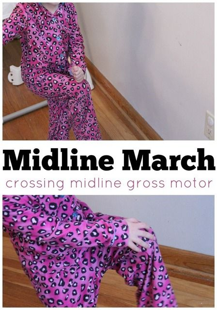 Midline March. Crossing Midline: What is it and activities to help in child development.