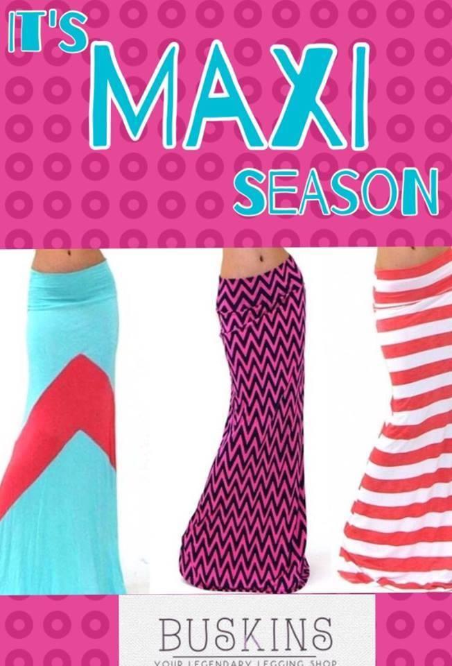 """""""New Maxi skirts! www.laurnetleggings.com"""