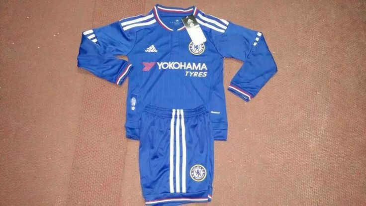 Chelsea Jersey 2015/16 Jersey Youth Home LS Soccer Shirt Kids Football Kits