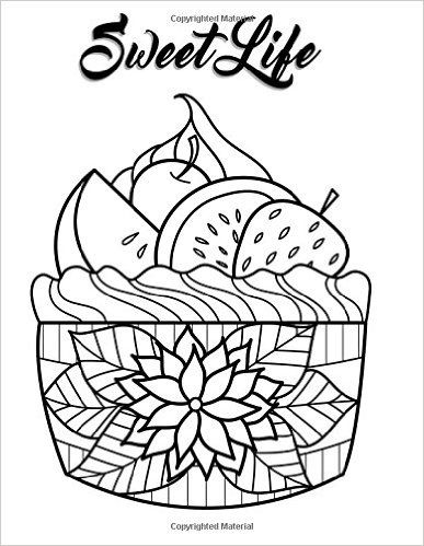 78 best cupcakes cakes coloring pages for adults images Coloring book planner
