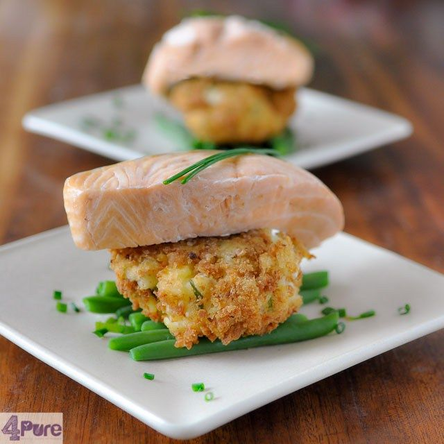 salmon smoked in tea with wasabi latkes, a surprisingly easy and delicious dinner recipe
