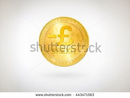 Pound GBP,Great Britain (England,British) coin with minus sign and word Brexit. Symbolic that represent a lot of concept about GBP currency and Brexit stock market, finance, economics with crisis.