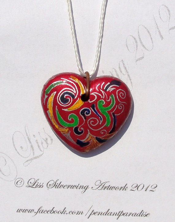 One of a kind curles design heart by LissSilverwing on Etsy, €20.00  Sold. i will make a similar but fairly different one on demand.