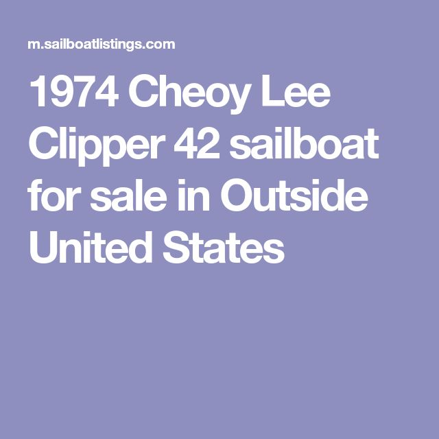 1974 Cheoy Lee Clipper 42 sailboat for sale in Outside United States