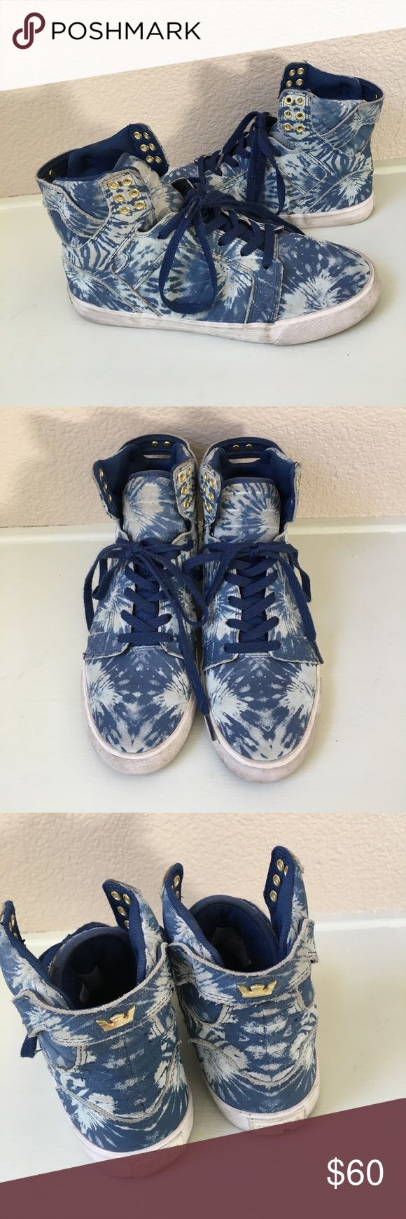SUPRA MUSKA 001 SKYTOP TIE DYE PRINT Very cute and can be worn with anything! Leather upper !! Supra Shoes Sneakers