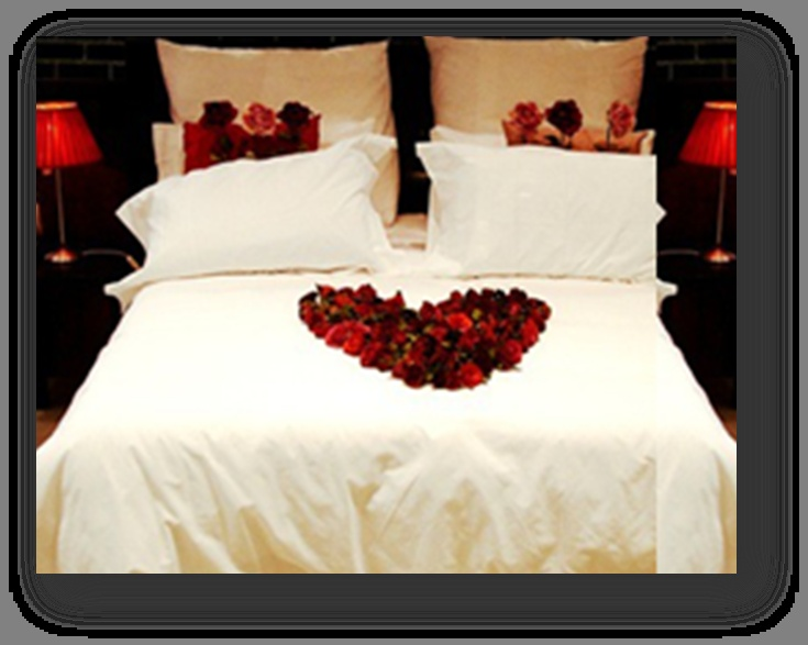 Arrange Rose Petals On Bed To Spell Out I Love You To