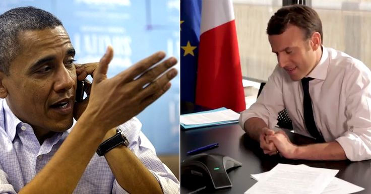 Barack Obama stuck his nose into the French election today cutting an ad for the globalist candidate Emmanuel Macron. Obama ...