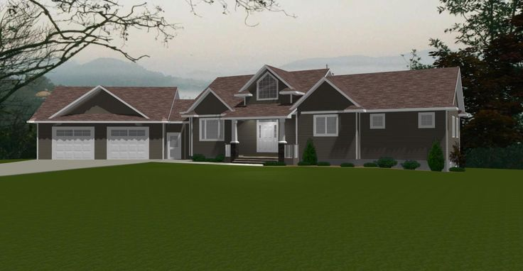 Angled Garage With Breezeway Email Info Edesignsplans
