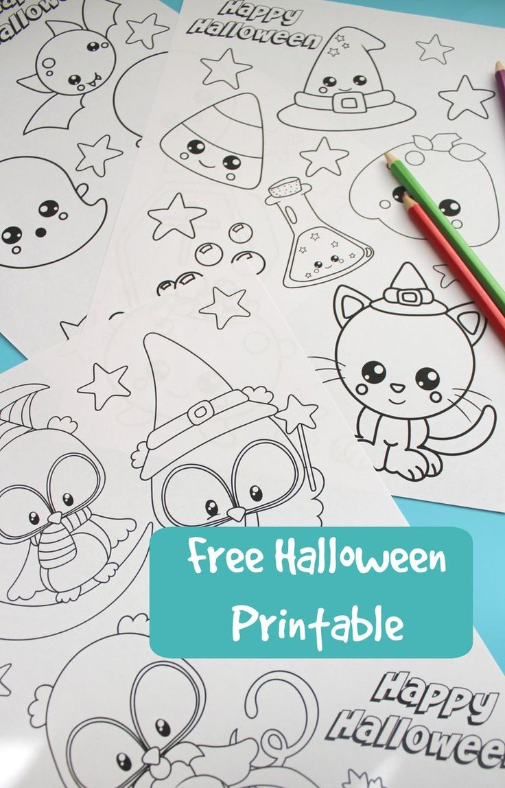 Free printable halloween colouring in