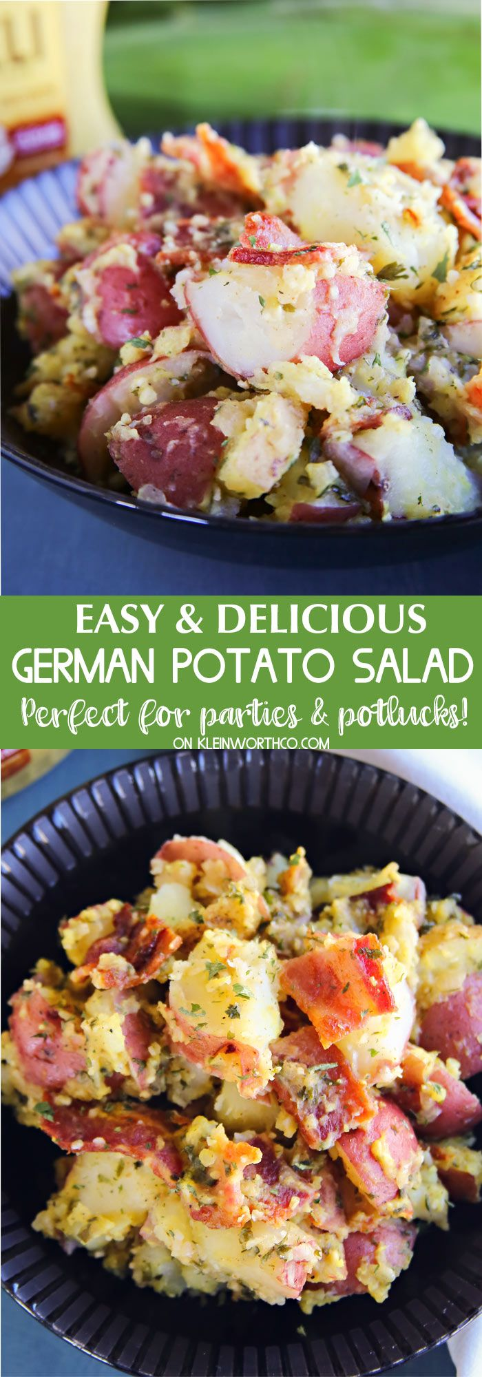 German Potato Salad Recipe is the perfect pairing to every BBQ favorite. Spicy, tangy & delicious. It's the recipe to bring to all your parties & potlucks.
