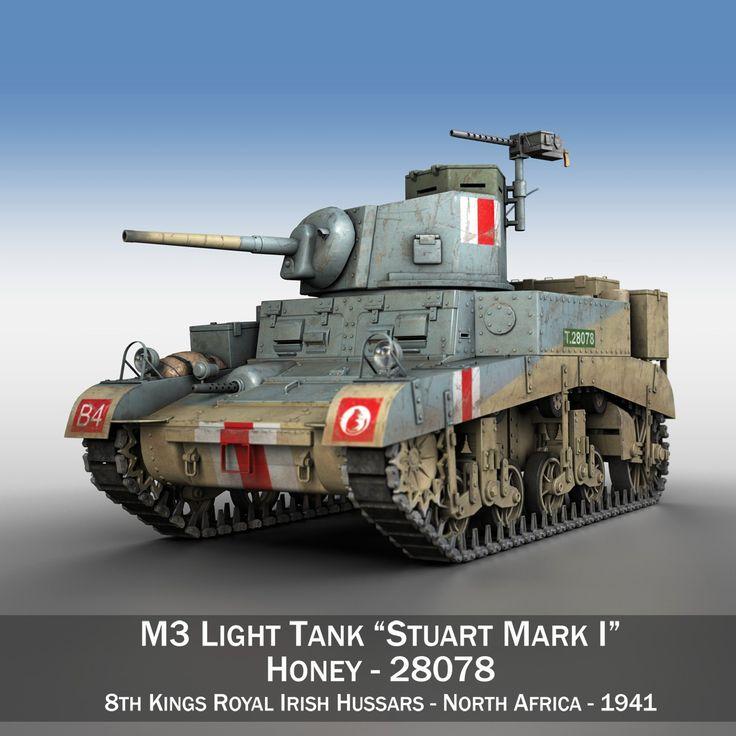 cinema4d british m3 stuart light tank