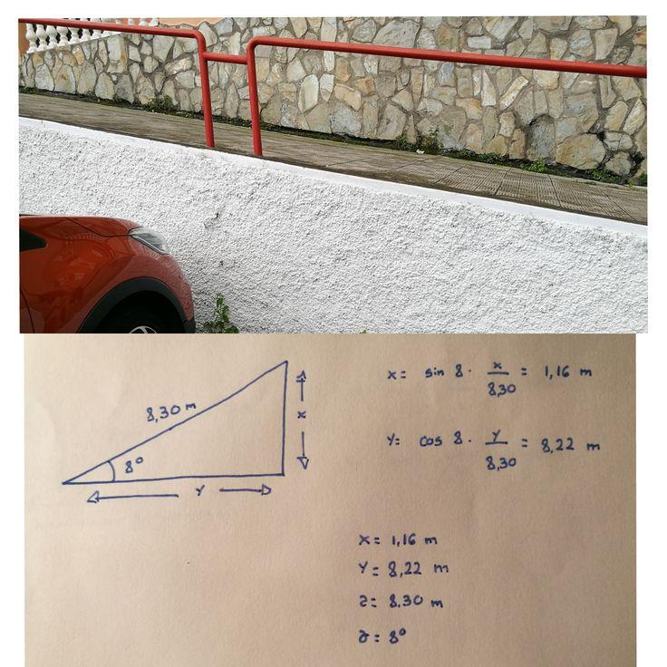 RAMPA 3 Localizada en Los Realejos( Avenida Canarias, el 99) La altura de esta rampa es de 1,16 m, su longitud es de 8,22 m su grado de inclinación es de 8º y su pendiente tiene un desnivel del 14%. Esta rampa no cumple con la normativa ya que excede considerablemente el 6% que marca la ley.