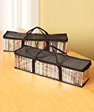 Amazon.com: DVD Storage Organizer - Classic Set Of 2 Storage Bags With Room For 40 DVDs Each For A Total Of 80: Electronics