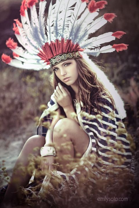 Steady as the Beating Drum by Emily Soto - I love the use of props and clothing, I really think the headdress makes this photo how the colour of it brings the rest of the photograph out, its eye catching and beautiful.