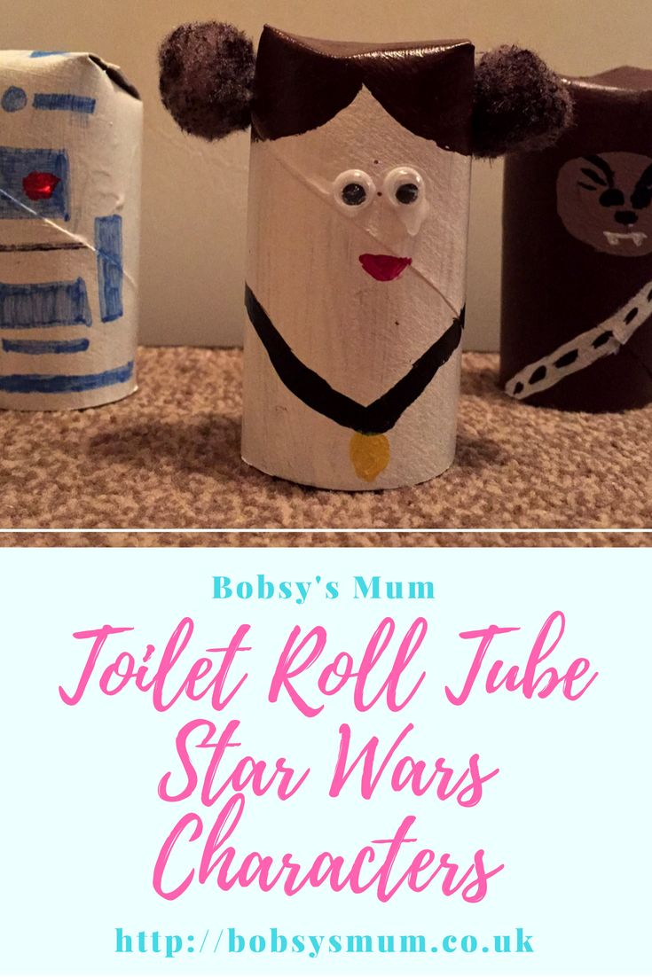 Paper tube Star Wars characters kids craft.