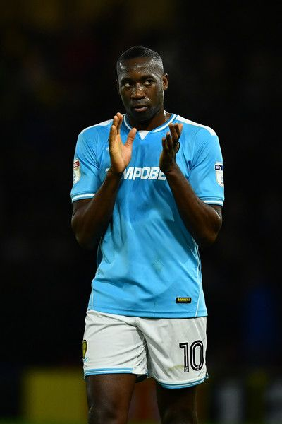 Lucas Akins of Burton Albion applauds supporters after The Emirates FA Cup Third Round match between Watford and Burton Albion at Vicarage Road on January 7, 2017 in Watford, England.