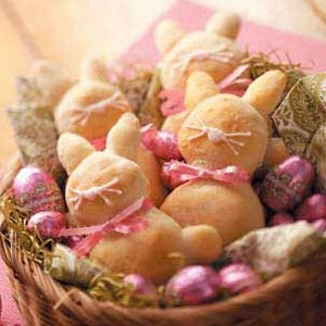 Easter Bunny Breads Recipe