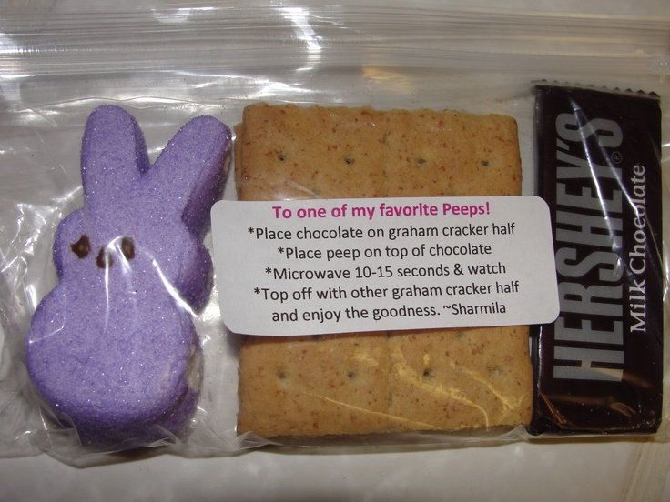 Received this from the Principal in my mail box.  Very cute, and tasty too.  First time microwaving a Peep.