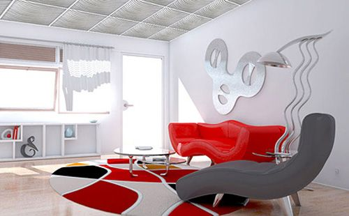 Plastic ceiling panels have good light reflecting properties, making modern interior design lighter and airier, visually increasing the room size. Decorative ceiling panels, made of contemporary plastic, are easy to clean, convenient and practical. Durable and functional, suspended ceiling panels keep looking great for years, offering interesting ceiling design trends for creating personal interior decorating and adding more beauty, contemporary art and joy into your BUSY life.