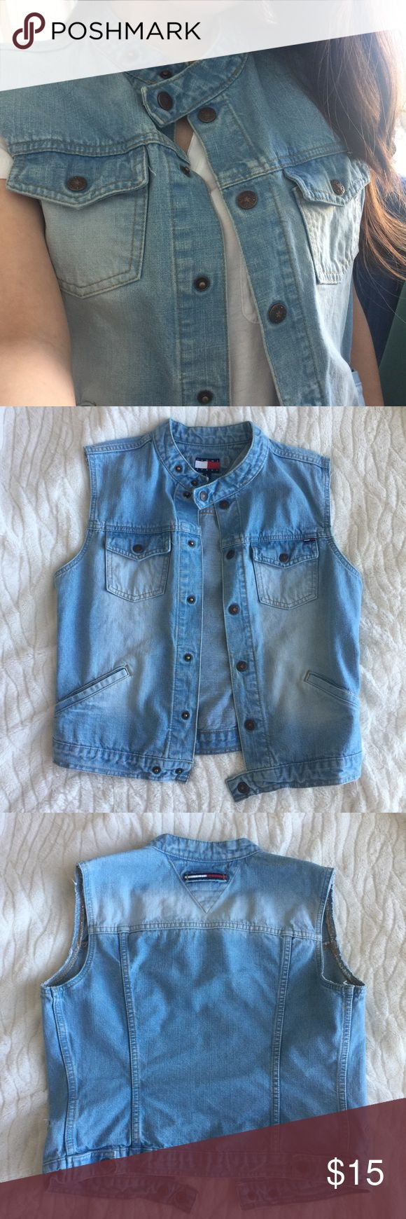 Tommy Jeans vest Barely worn Tommy jean vest. Size L girls so it fits like a size small for me perfectly. Tommy Hilfiger Jackets & Coats Vests