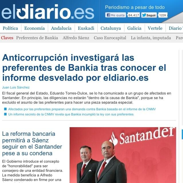Portada eldiario.es. 12 de abril de 2013.