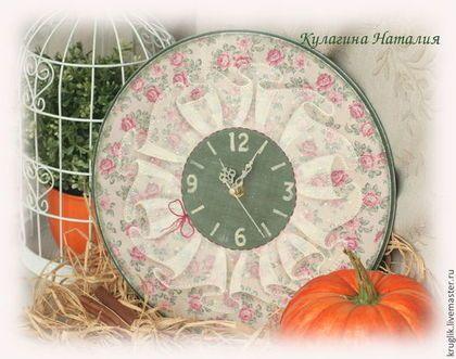 "Часы ""Кружевной прованс"" - часы,часы настенные,имитация кружева,прованс"