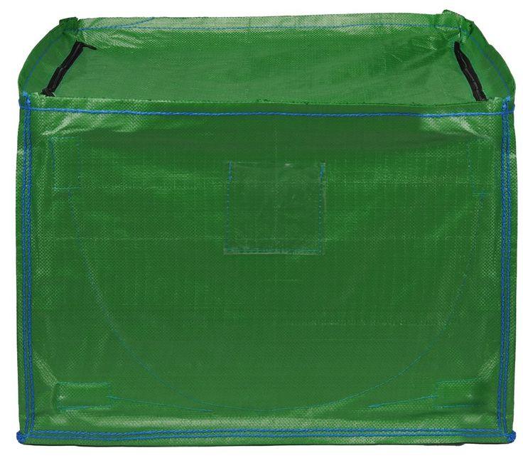 Storage Bin Foldable Large Cube with Zipped Lid Dump N