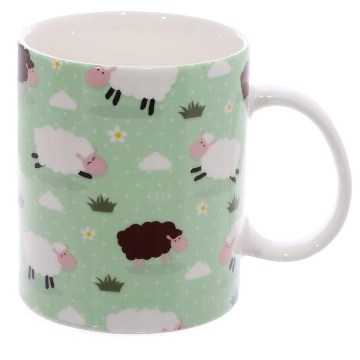 Coffee Cup Fun New Bone China Mug Sheep Design Drinkware Mugs Funny Mug Gift Ideas by getgiftideas on Etsy