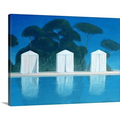 Canvas On Demand Pool Tents by Lincoln Seligman Painting Print on Canvas