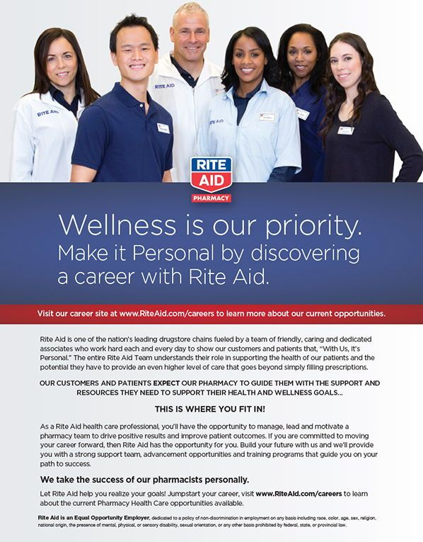 Rite Aid Make It Personal By Discovering A Career With Rite Aid As Seen In The 2018 Platinum Pages Buyer S Guide Rxplatinump Pharmacy Career Sites Rite Aid