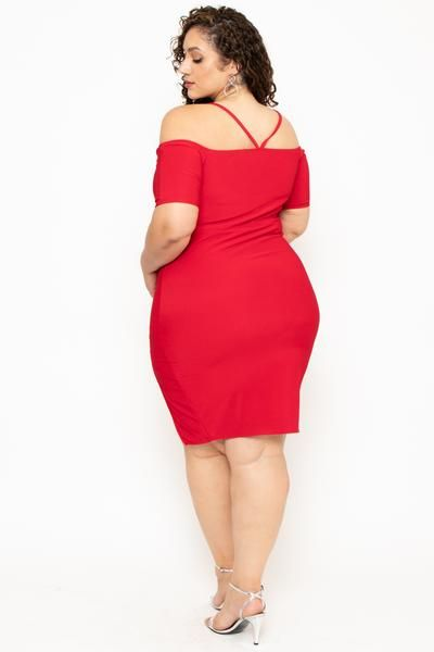 35472d2f1de2 Plus Size Sweetheart Strap Dress- Red in 2019 | Thick | Dresses ...