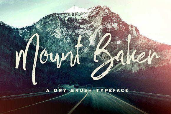 Mount Baker Brush Font by Greg Nicholls on @creativemarket