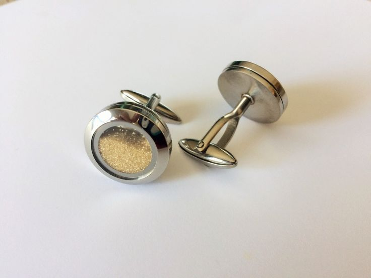 A personal favorite from my Etsy shop https://www.etsy.com/ca/listing/231300221/sand-filled-cufflinks-destination