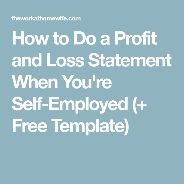 25+ beste ideeën over Profit and loss statement op Pinterest - profit and loss template for self employed free