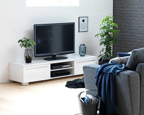 TV-taso AAKIRKEBY 2 laatikkoa valkoinen